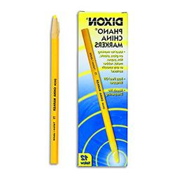 Dixon 00073 Phano Peel-Off China Marker - Yellow - 12 per Pa