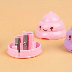 1 Pc Cute Poop Pencil Sharpener Double Hole Stationery For S