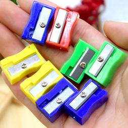 10pcs Plastic Pencil Sharpener Square Mini Sharpener Station