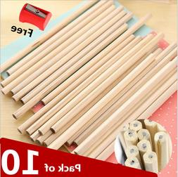 10x Back to School Pack HB Pencils Craft Art Drawing Free Pe