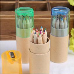 12 Color Pencil Colored Drawing Set For Kids Amateurish With