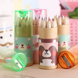 12 PCS Pencil Colored Drawing Set For Kids Art Sketch With P