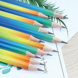 12pcs Drawing Writing 2B Pencil Student Stationery Colorful