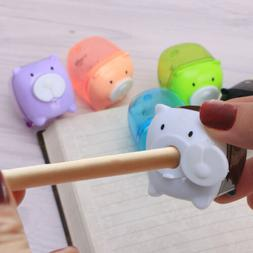 1pc Cute Mini Pig Pencil Sharpener Animal Stationery For Sch