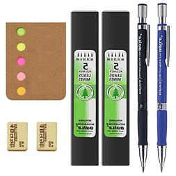 2.0 mm 2B Mechanical Pencils with Lead Refills,2 Pieces Eras