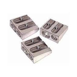 3 PACK: KUM 1040501 2-hole Pencil Sharpener Magnesium Alloy