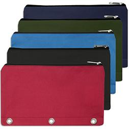 3 ring pencil case pouch