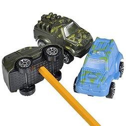 3 Pack Truck Toy Car Vehicle Pencil Sharpener School Supply