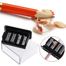 4 Holes Pencil Sharpener For Charcoal Sketch Pencils Drawing