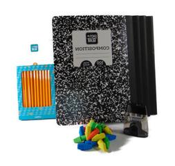 4 Pack Wide-Ruled Notebook 100 Sheets 24 Pencils Pencil Shar