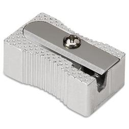 42852 Integra Pocket Pencil Sharpener - 1 Hole - Aluminum -