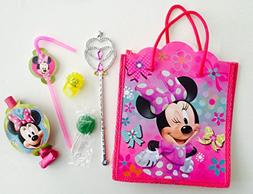 8x Pack Minnie Goody Bags, Pre Made & Filled with Toys, Good