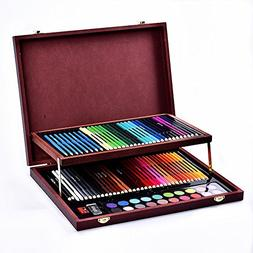 91 Children's Wooden Box Painting Stationery Set Color Lead