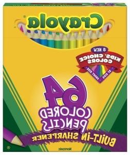Crayola® Box Of 64 Coloring Pencils Includes 8 Kids' Color
