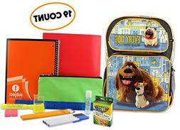 Secret Life of Pets Back-To-School Supply Bundle with 16-inc
