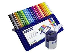 Staedtler Ergo Soft Coloured Pencils Set of 24  + Double Hol