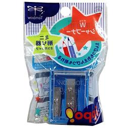 Tombow Ippo Pencil Sharpener, 2 Blade Size, Assorted Colors,