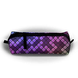 FJSLIE Abstract Cool Purple Square Oxford Storage Bags Porta