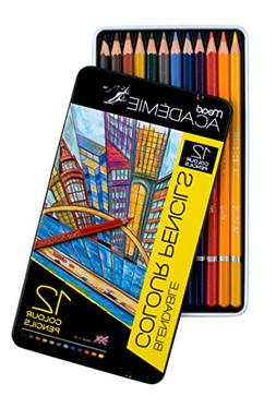 Mead Academie Blendable Colored Pencils, 12 Pencils per Tin,