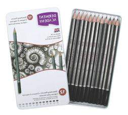Derwent Academy Sketching Pencils, 12 Degrees of Hardness Me