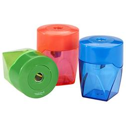 Artlicious 3 Colorful Compact Metal Pencil Sharpener Value P