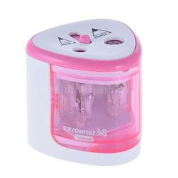 Automatic Electric Pencil Sharpener Cutter 2hole Kids Office
