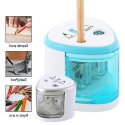 mini automatic electric pencil sharpener cutter kids