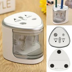 Automatic Electric Pencil Sharpener Dual Hole Battery Operat