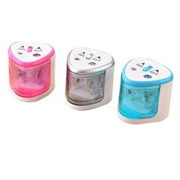 Automatic Electric Touch Switch Two-Hole Pencil Sharpener Ba