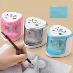 New Automatic Pencil Sharpener Two-Hole Stationery Home Offi