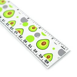Avocado 12 Inch Standard and Metric Plastic Ruler