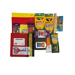 Back to School Supplies Bundle -Yellow & Red Composition Boo