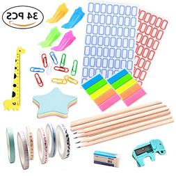 SEALEN Back to School Supplies Kit, Classroom Supply Bundle,