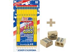 **BACK TO SCHOOL VALUE PACK** USA Gold Series #2 Pencils, Ce