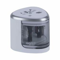 Battery Operated Pencil Sharpener and Double Hole Silver Ele