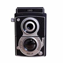 Black Retro Camera Manual Pencil Sharpener Hand-Cranking Pen