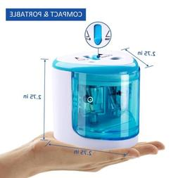 Blue Automatic Electric Pencil Sharpener Cutter for Kids Off