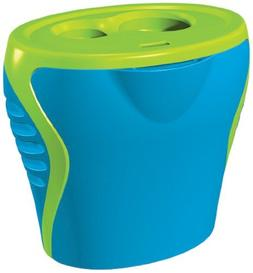 Generic Blue and Green 2 Hole Sharpener