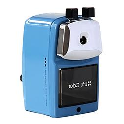 Baidecor Blue Metal Manual Pencil Sharpener Hand-Cranking