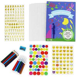 Bullet Journal Stencil Set - 10 Strong Stencils - 5 Colored