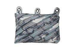 ZIPIT Camo 3-Ring Pencil Case, Grey Camouflage
