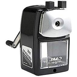 Classic Manual Pencil Sharpener. BLACK. Heavy Duty but Quiet