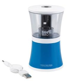 Westcott Clusters iPoint USB/Battery Pencil Sharpener, Assor