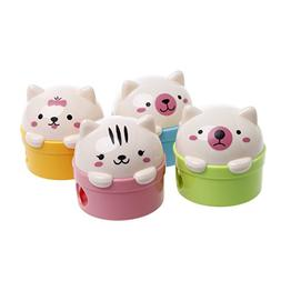 Ladaidra Pack of 2 Pencil Sharpener with 2 Holes Cute Animal