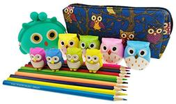 Cute Cartoon Owl Theme Set 5 Kinds of Stationery Include 1 C