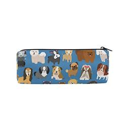 ALAZA Cute Dog and Puppy Set Animal Pencil Pen Case Pouch Ba