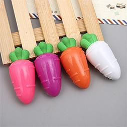 Cute Kawaii Carrot Shape Pencil Sharpener With Eraser School