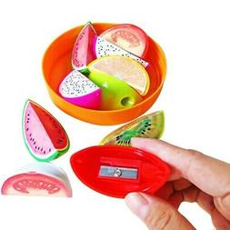Cute Set of Fruit Shape Pencil Sharpener Kids Stocking Party