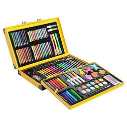 KIDDYCOLOR Deluxe Art Set for Kids 159 Piece with DIY Suitca