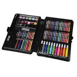 KIDDYCOLOR 109-Piece Deluxe Art Set for Kids with Plastic Ca